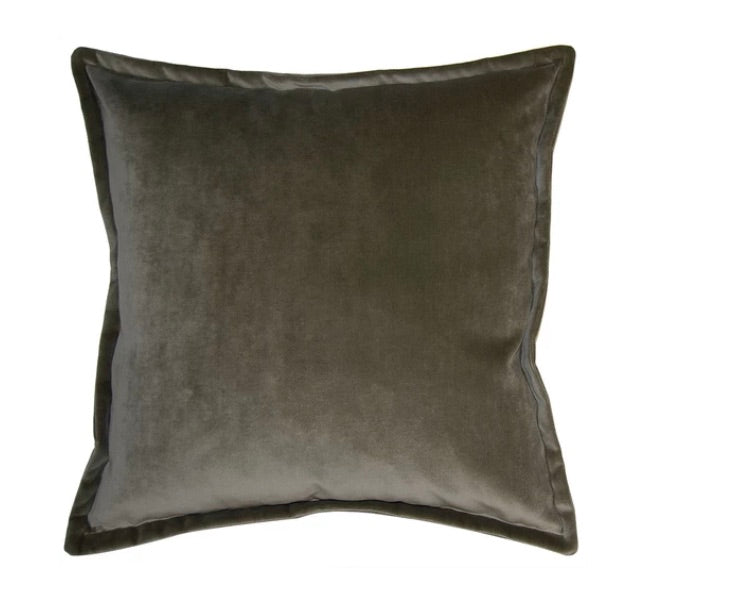 Solid Velvet Pillow with Down Insert - Sarah Virginia Home