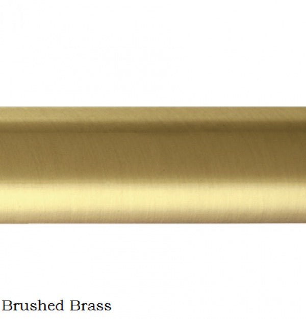 Brushed Brass Curtain Rod for Stairs - Sarah Virginia Home