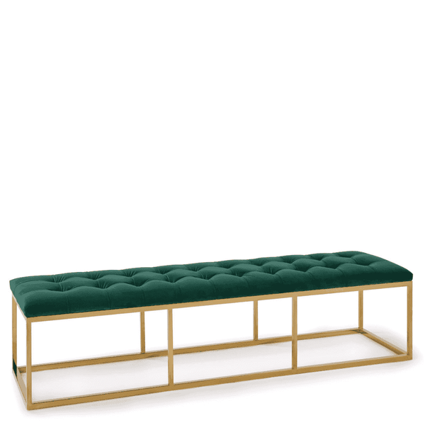 Velvet Green Bench - Sarah Virginia Home