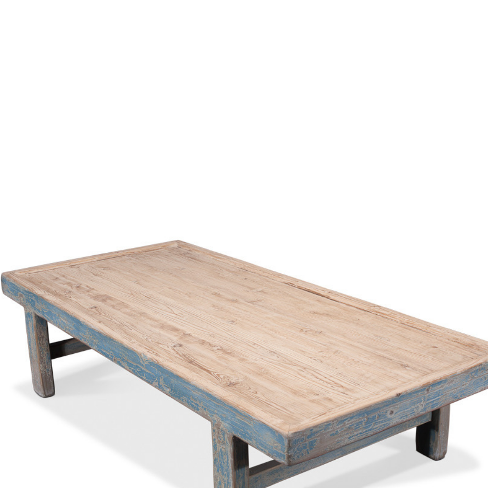 - Oversized Blue Coffee Table