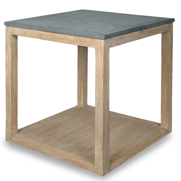 Wood and Stone Side Table - Sarah Virginia Home