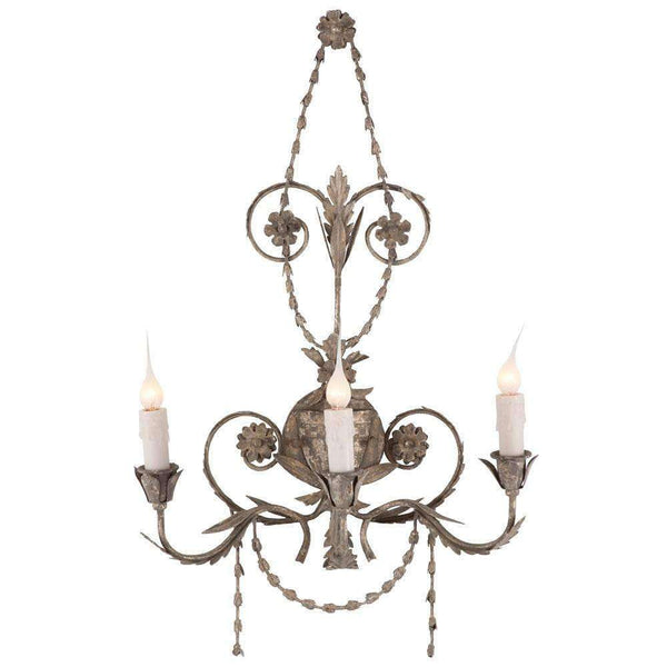 Santa Maria Sconce (Distressed Silver) - Sarah Virginia Home