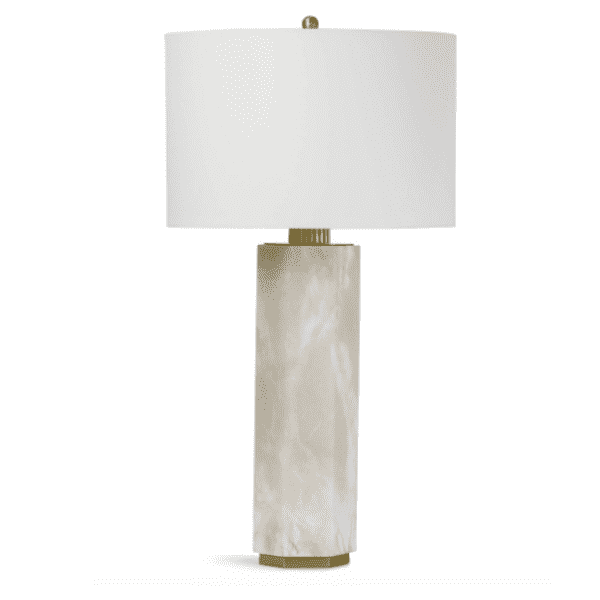 Gear Alabaster Table Lamp - Sarah Virginia Home