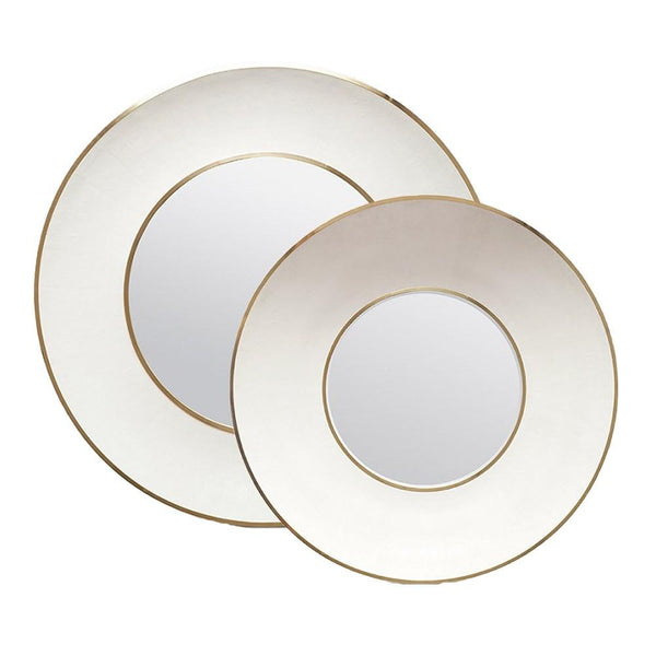 Armond Mirror (White/Gold Metal) - Sarah Virginia Home