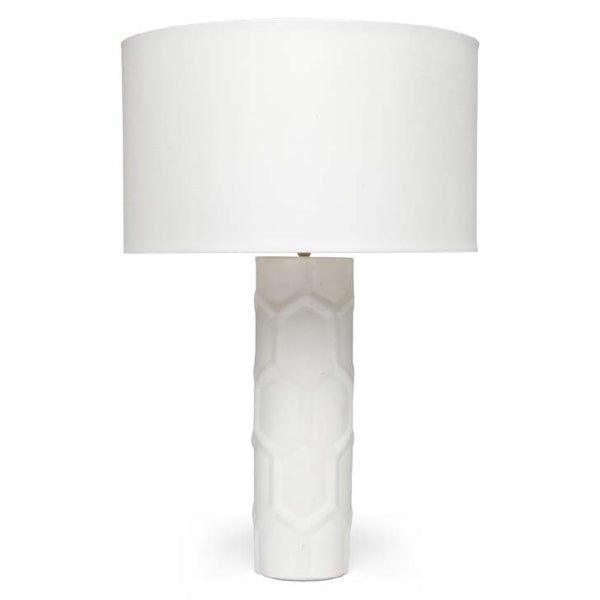 Carson Ceramic Lamp (White) - Sarah Virginia Home