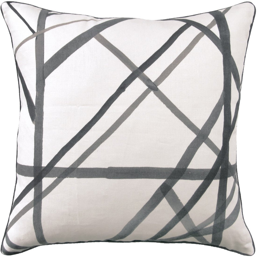 Channels Throw Pillow (Gray) - Sarah Virginia Home