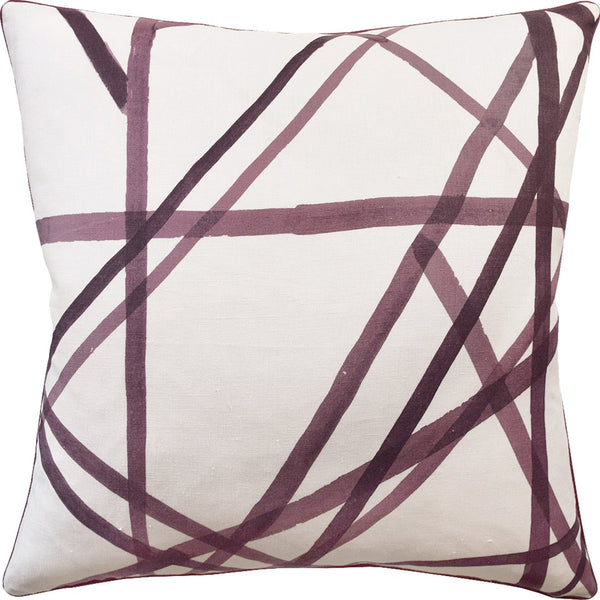 Channels Throw Pillow (Plum) - Sarah Virginia Home