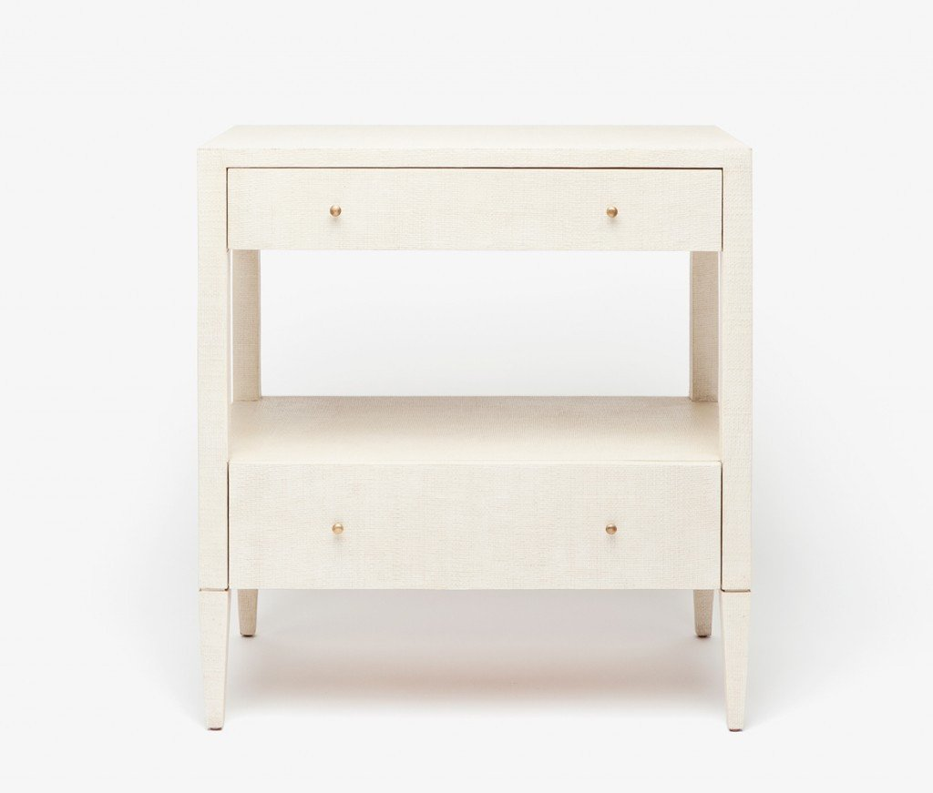 Conrad Nightstand (Double, Off-White) - Sarah Virginia Home