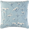 Beaded Wildflower Pillow (Blue) - Sarah Virginia Home