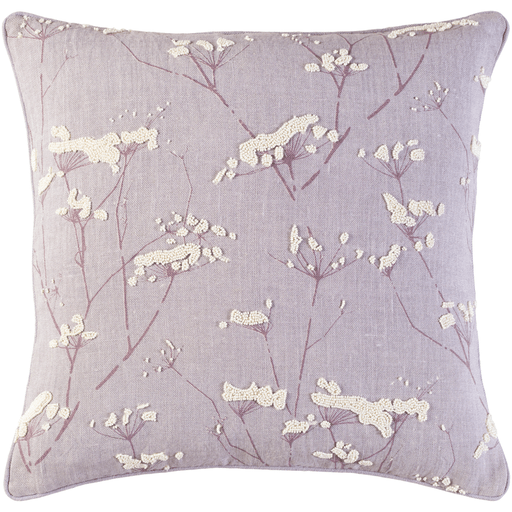 Beaded Wildflower Pillow (Lilac) - Sarah Virginia Home
