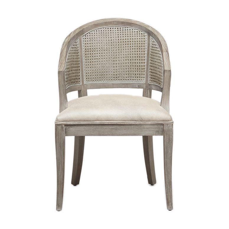 Sylvie Cane Back Dining Chair (Gray) - Sarah Virginia Home