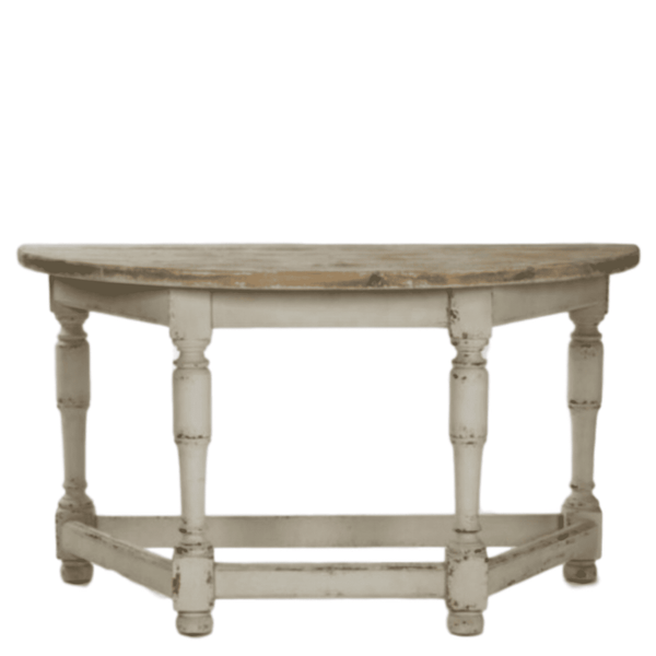 Demi-Lune Farmhouse Console