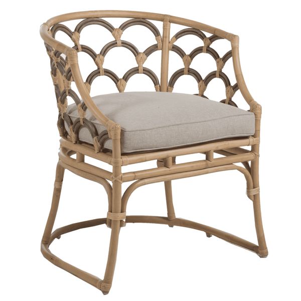 Scalloped Rattan Chair - Sarah Virginia Home