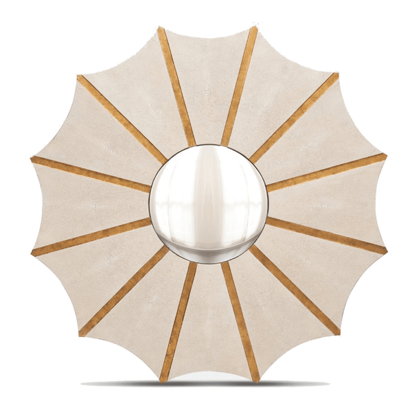 Daniela Mirror (Ivory Shagreen) - Sarah Virginia Home