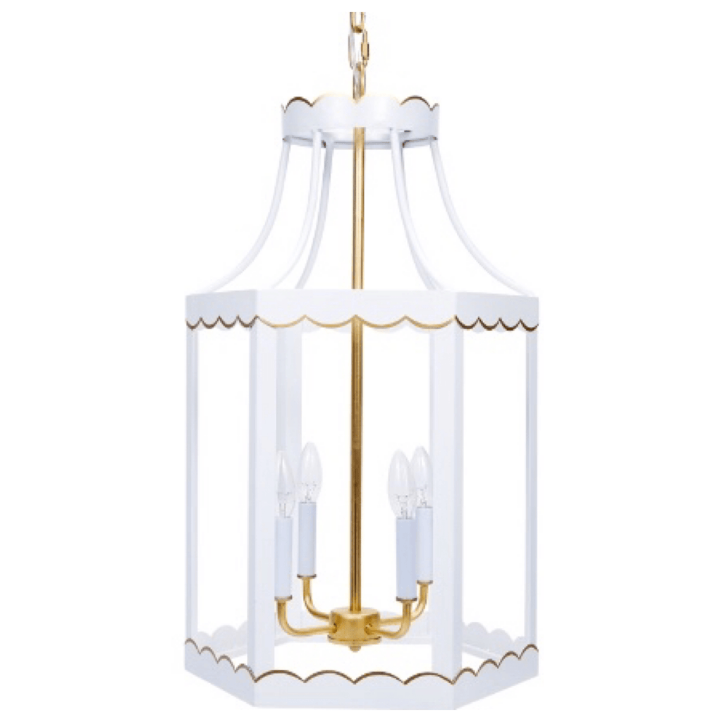 White Gloss Lantern - Sarah Virginia Home