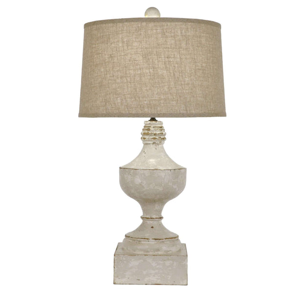 Distressed Balustrade Lamp - Sarah Virginia Home
