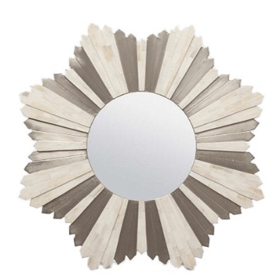 Marlow Starburst Mirror (Bone/Silver) - Sarah Virginia Home