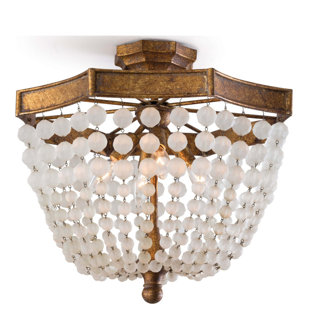 Frosted Bead Semi Flush Mount - Sarah Virginia Home