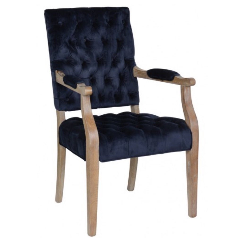 Rosa Navy Arm Chair - Sarah Virginia Home