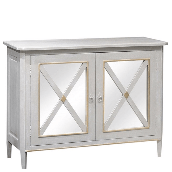 Genevieve Mirrored Cabinet - Sarah Virginia Home