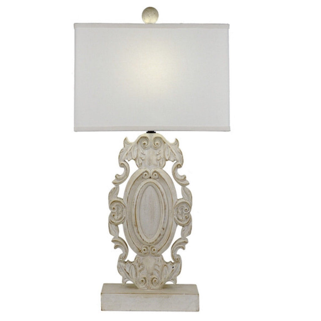Carved Ivory Table Lamp - Sarah Virginia Home
