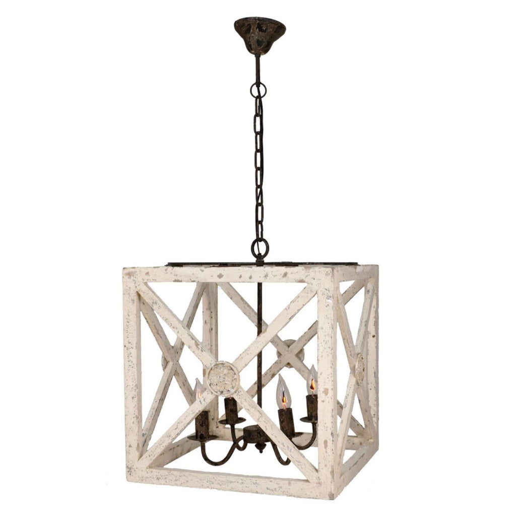 Medallion Square Lantern - Sarah Virginia Home