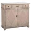 Marble and Oak Cabinet - Sarah Virginia Home