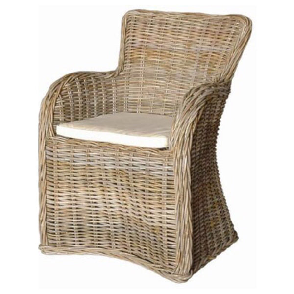Natural Woven Dining Chair - Sarah Virginia Home