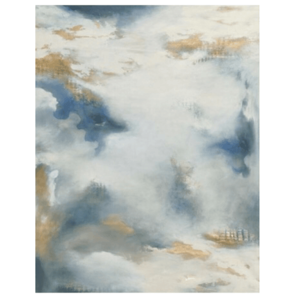 Blue and Gold Abstract - Sarah Virginia Home