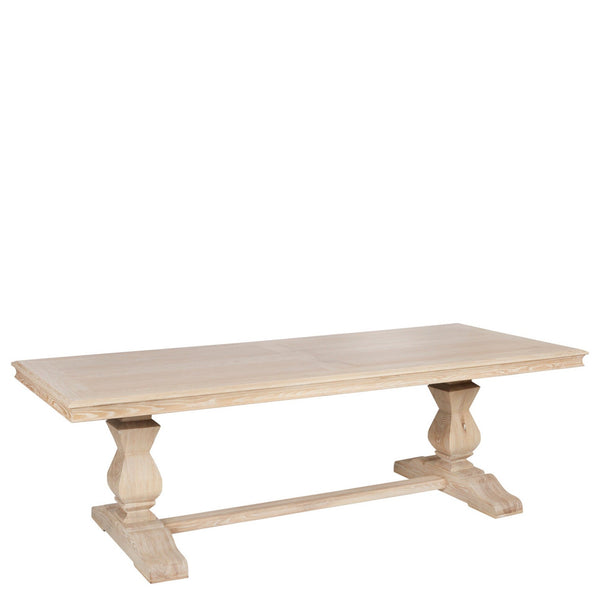 Bleached Wood Trestle Table - Sarah Virginia Home