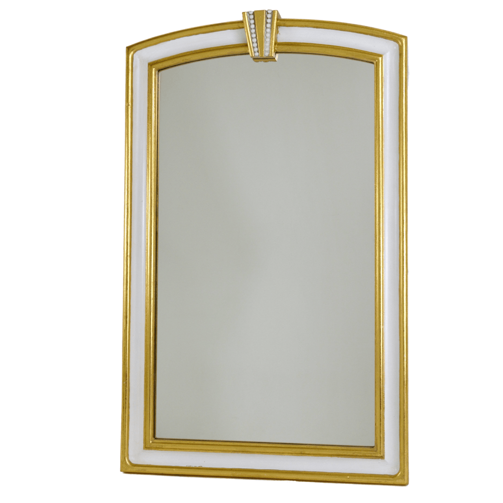 White and Gold Artisan Mirror - Sarah Virginia Home