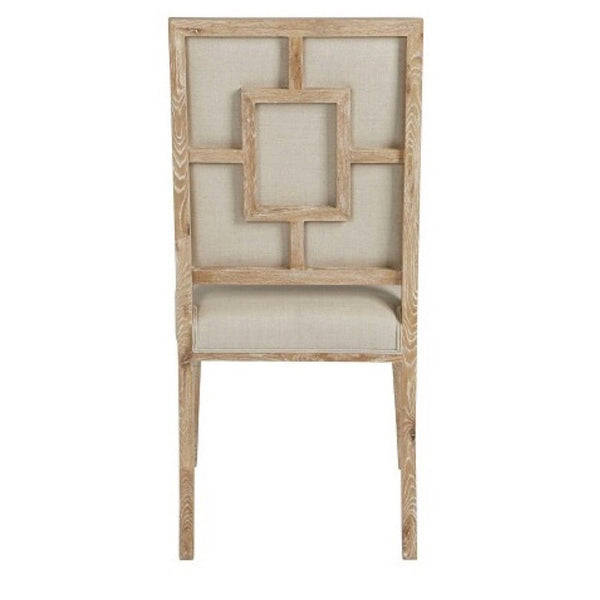 Fretwork Upholstered Dining Chair - Sarah Virginia Home