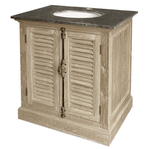Louvered Door Bathroom Vanity - Sarah Virginia Home