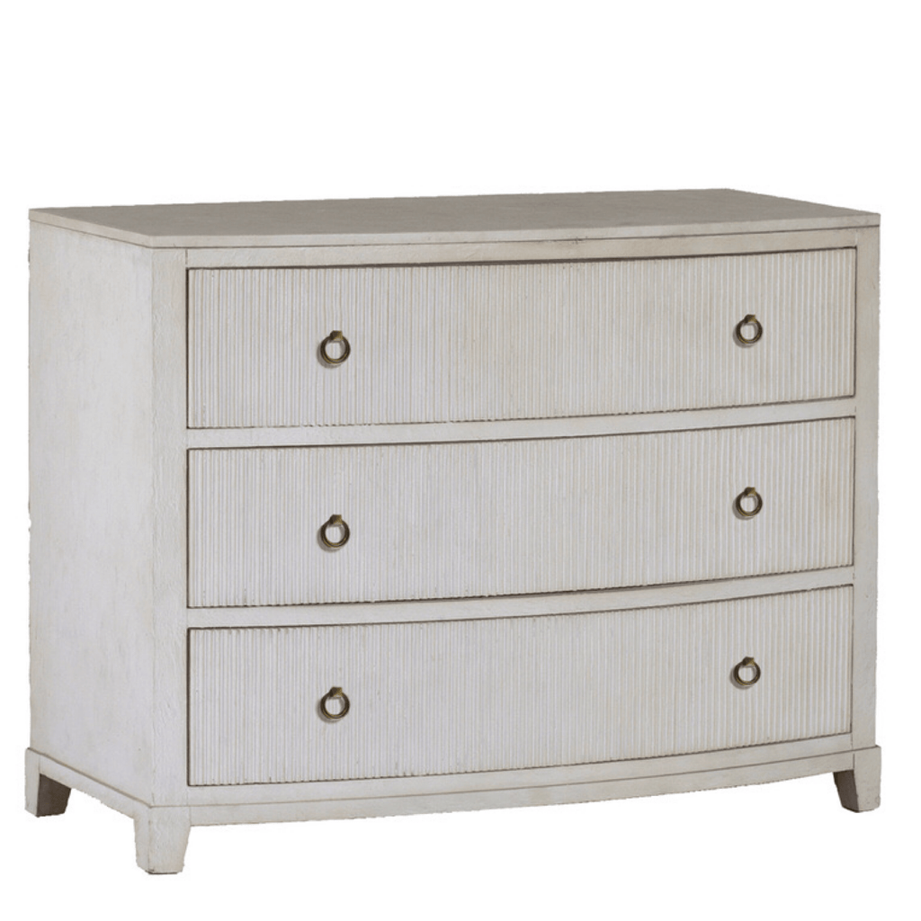 Fluted Marble Top Chest - Sarah Virginia Home