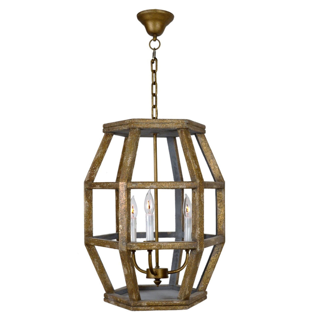 Caged Hexagon Lantern - Sarah Virginia Home