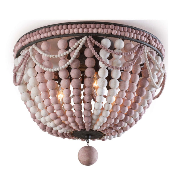 Malibu Flush Mount (Dusty Pink) - Sarah Virginia Home