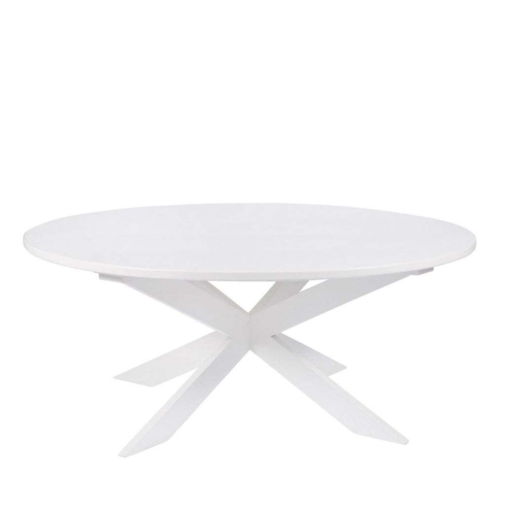 Modern White Pedestal Table - Sarah Virginia Home - 1