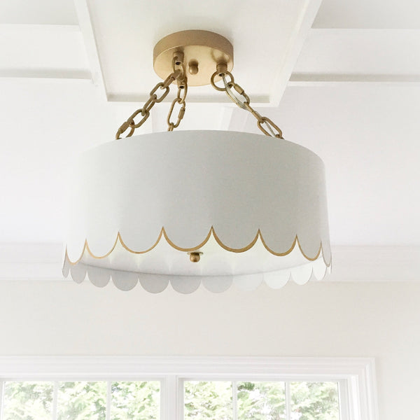 Scalloped Semi Flush Mount
