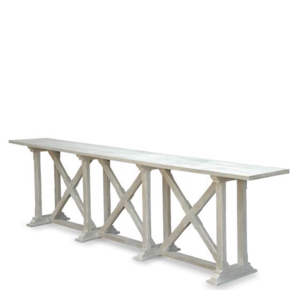 X Base Whitewash Console (Large)