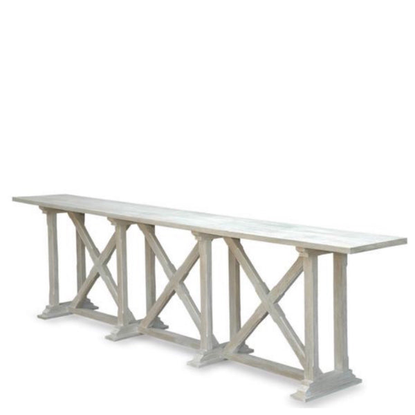 X Base Whitewash Console (Multiple Sizes) - Sarah Virginia Home