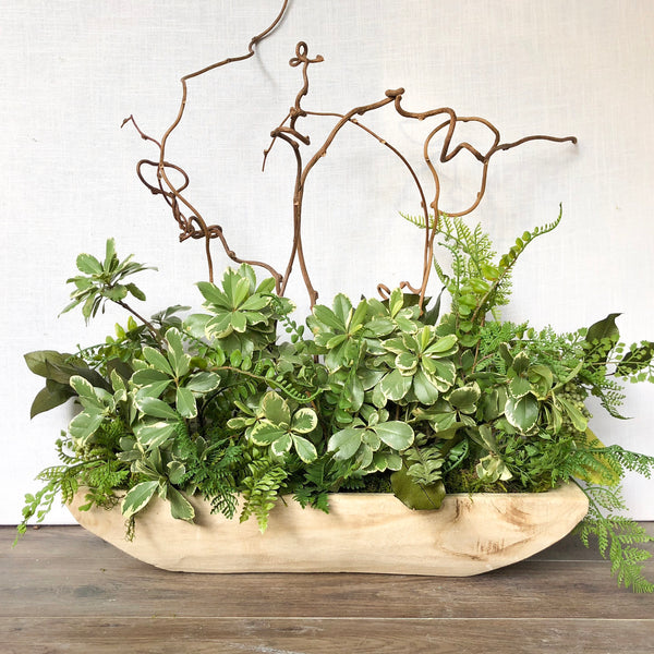 Rectangle Wood Planter - Sarah Virginia Home