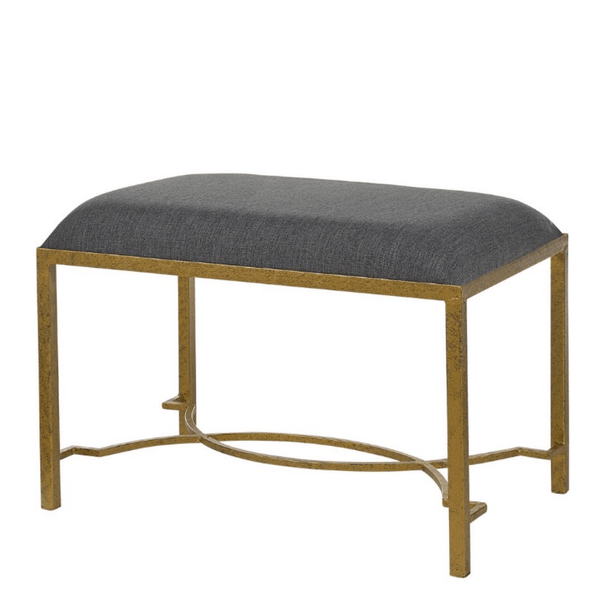 Gold and Graphite Bench - Sarah Virginia Home