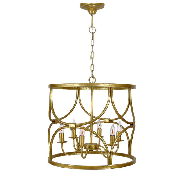 Caroline Chandelier (Gold) - Sarah Virginia Home