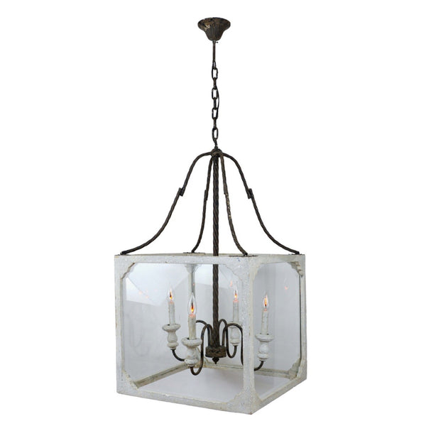 Casual Elegance Lantern (White) - Sarah Virginia Home