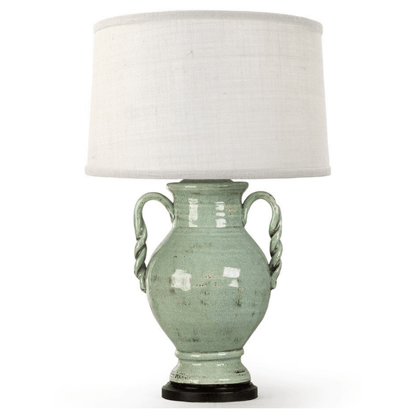 Blue Pottery Lamp - Sarah Virginia Home