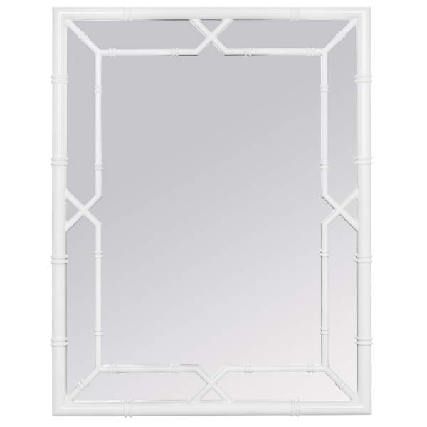 Lacquer Rectangle Bamboo Mirror - Sarah Virginia Home
