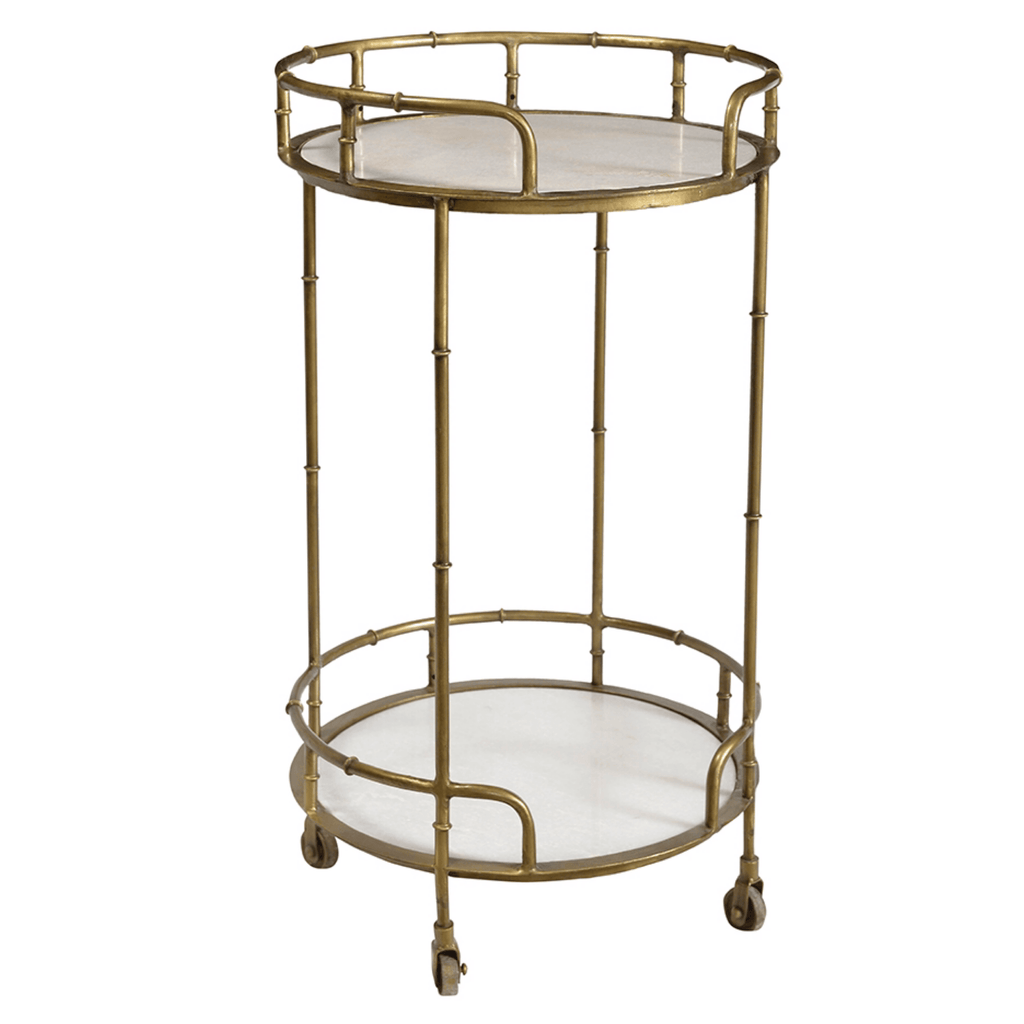 Clara Rolling Side Table - Sarah Virginia Home