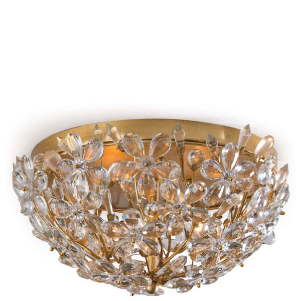 Gold Leaf Floral Flush Mount - Sarah Virginia Home