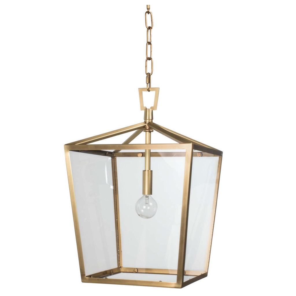 Carlton Lantern (Small Natural Brass) - Sarah Virginia Home