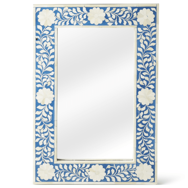 Blue Bone Inlay Mirror - Sarah Virginia Home